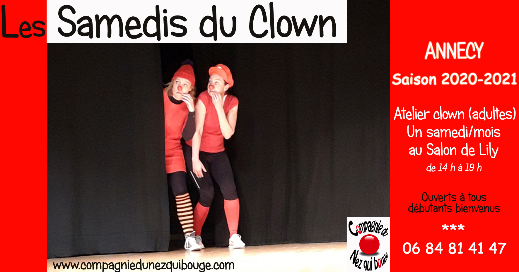 "Stages-ateliers ""Samedis du CLOWN"""